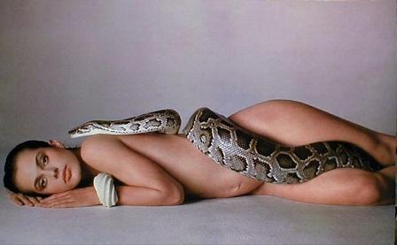 Nastassja Kinski and Burmese python