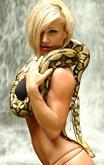 Jamie Eason Snake Photo shoot