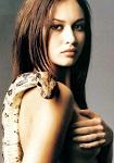 Olga Kurylenko with snake