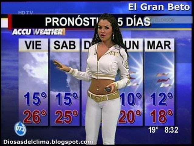 Sexy weather girl mayte carranco from planck s constant