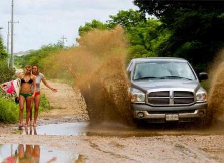 these girls catch a wave of mud