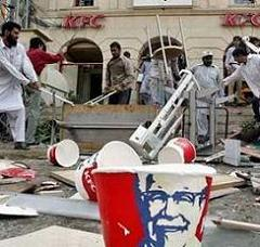 muslims attack kentucky fried chicken
