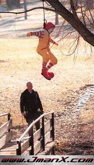 muslim invention - ronald mcdonald hanging toy
