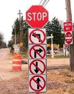 stop -no right -no left - Islam