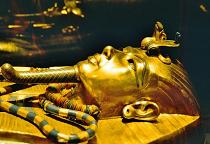 The museum houses treasures recovered from the tomb of the pharaoh Tutankhamun