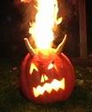 christian pumpkin burning