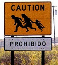 illegal immigrant sign