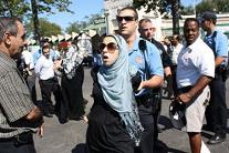 a Muslim woman caused a major scuffle with police at the Rye Playland amusement park