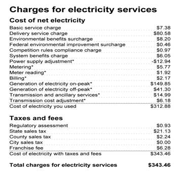 Electric Bill View