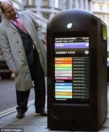 bomb-proof trash bins in London