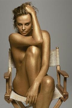 Charlize Theron Half Naked
