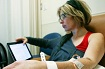 A woman undergoes chemotherapy treatment at the Chaim Sheba Medical Center at Tel Hashomer.