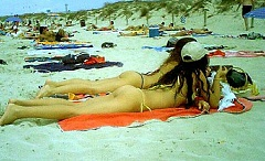 Hot Girls on Ibiza Beach