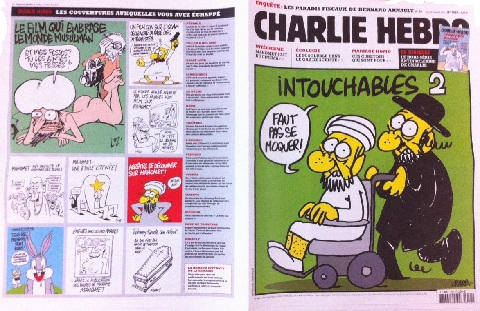 French Magazine Charlie Hebdo Prints Cartoon of Mohammed Naked.