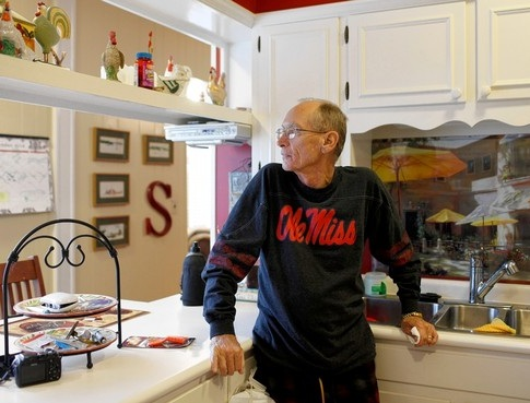Bob Stinson at his home in Michigan City, Miss., says he keeps receiving letters demanding past payments on a student loan he co-signed for his daughter, Tiffany. who temporarily had to stop making $1,200-a-month payments in order to help her mom while she recovered from surgery.