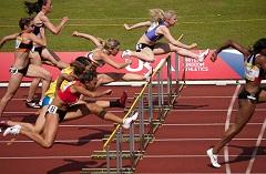 Heat 1 of the Womens 100m Hurdles Semi-Final