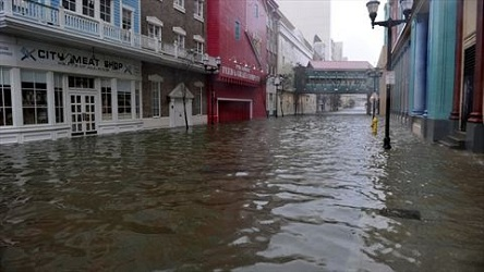 Wild Wild West Casino in Atlantic City flooded from Hurricane Sandy 2012