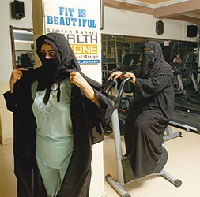 A fit Muslim woman
