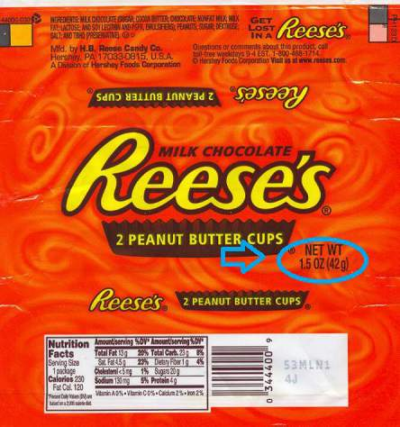 2004 Reese's peanut butter cups