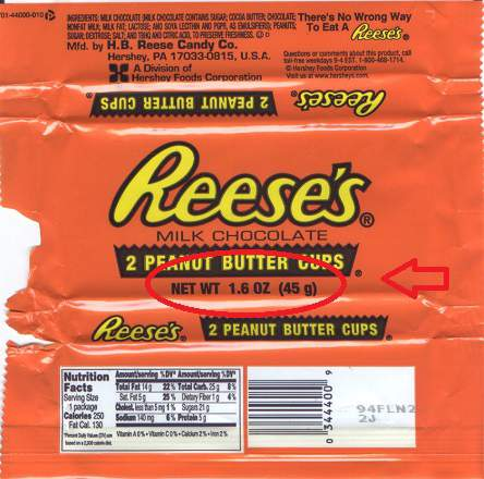 2003 Reese's peanut butter cups