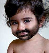 baby with beard