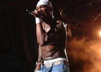 50 CENT rapping at the Anger Management Tour 2003.