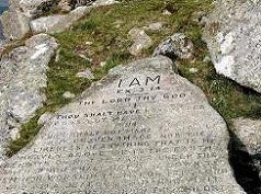 Ten commandments on top of Buckland Beacon