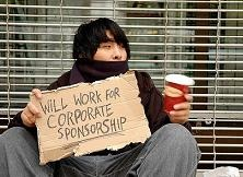 will work for corporate sponsor