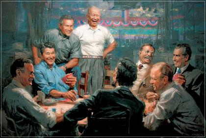 all the presidents laughing