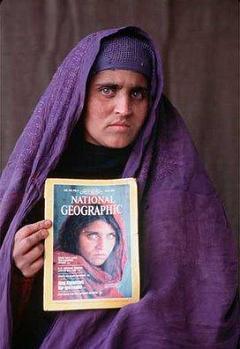 Afghan Muslim woman Sharbat Gula