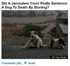 Did a Jerusalem court really sentence a dog to death by stoning?