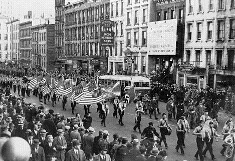 German American Bund parade in New York City on East 86th St. Oct. 30, 1939 / World-Telegram photo.