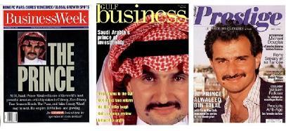 Saudi Prince Alwaleed on various magazines covers