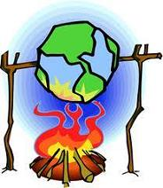 global warming - earth being roasted