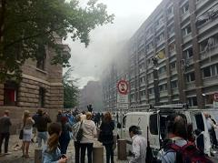 Unreal. An entire block has exploded! Huge explosion rocks Oslo, Norway!
