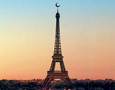 eiffel tower crescent - the islamization of Europe