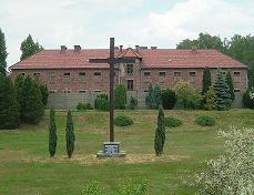 Auschwitz cross erected near the concentration camp