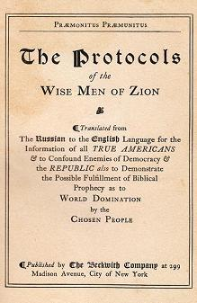 The Protocols of the Wise Men of Zion - The Beckwith Company (1920)