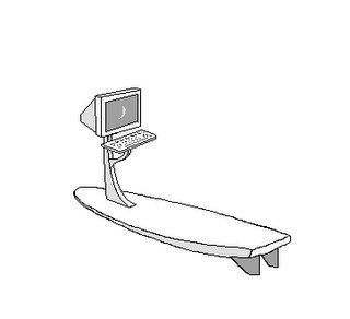 portable computer/surf board