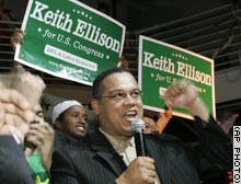 Ellison urged an immediate pullout of US troops from Iraq