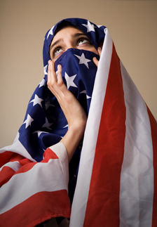 flag as burqa