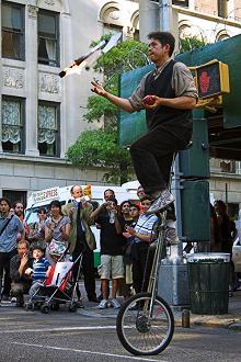 Juggler on a Unicycle