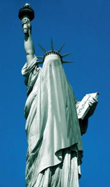 burqa-clad statue of liberty