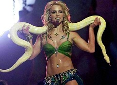 britney spears - yellow snake