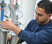 A worker at SodaStream's Mishor Adumim factory