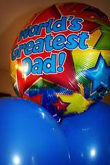 world's greatest dad balloon