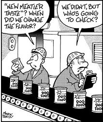 dog food cartoon flavor