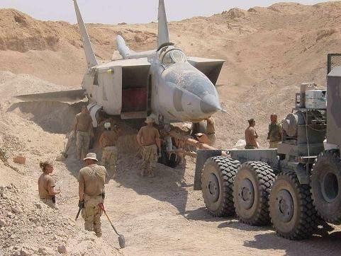 Iraqi fighter planes found buried in the desert