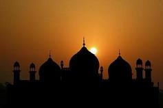 Sunset Behind Badshahi Mosque