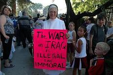 Nun opposes war